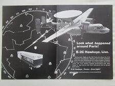 7/1977 PUB GRUMMAN E-2C HAWKEYE US NAVY USS CONSTELLATION ORIGINAL AD