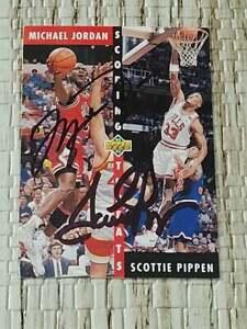 MICHAEL JORDAN / SCOTTIE PIPPEN Dual Autographed 1993 card READ description!!
