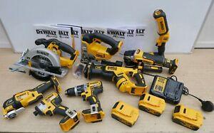 DEWALT XR 18V 8 KIT COMBO DCS391 DCS331 DCS367 DCS355 DCF887 DCG405 3 X 5 AH ETC