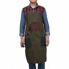 Unisex Canvas Apron with Pockets Mens Womens Heavy Duty Work Aprons Durable