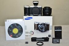 Samsung NX300 20.3MP (Black)  w/ 20-50mm II ED i-Function Lens - Box