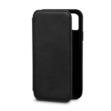 Case SENA Bence WALLET BOOK Genuine Leather for APPLE iPhone X - BLACK