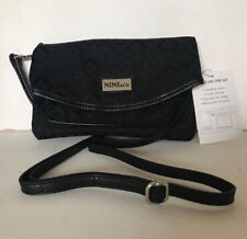 NEW! NINE & CO ON THE GO TUNNEL BLACK CROSSBODY SLING CLUTCH BAG PURSE SALE