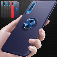 Hybrid Ring Holder Shockproof Phone Case Cover For Samsung Galaxy A750 A7 2018