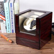 Automatisch Uhrenbeweger Holz sanders watchwinder Box für 2 Uhren EU Adapter