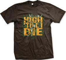 High Till I Die Pot Leaves Weed Marijuana High Stoned Mens T-shirt
