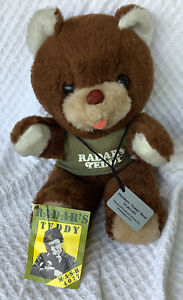 VTG California Stuffed Toys RADAR'S TEDDY BEAR Plush MASH 4077th TV Show Dogtag