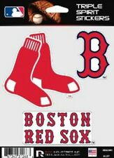 Boston Red Sox Die Cut Decals 3 Pack for Car Window, Laptop, Tumbler. MLB, Rico