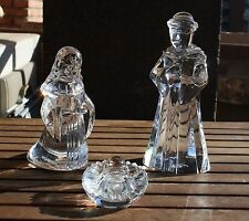 Baccarat crystal nativity - Baby Jesus, Mother Mary and Joseph.