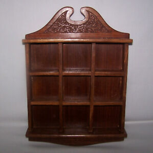 """Nice Small Wood Wall Display Shelf or Rack 12"""" x 8"""" for Miniature Collectables"""