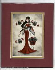 Amy Brown Matted Print Fairy Vampire Bite Me Halloween Kitchen Cupcake Candy RED