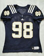 Rare Adidas Authentic Pro Cut Notre Dame #98 Practice Football Jersey