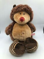 NICI Forest Friends Hedgehog Brown Bear Plush Kids Soft Stuffed Toy Animal Doll