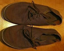 Rockport Grey Canvas Round Toe Lace Up Flat Men's Shoes - Size 9.5