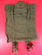 post-WWII USMC 5 Gallon Collapsible Water Bladder Canteen Canvas Carry Bag 1952
