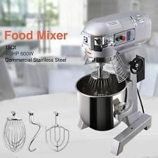 15L Electric Food Stand Mixer Dough Mixer Cooking restaurants Commercial 4/5Hp