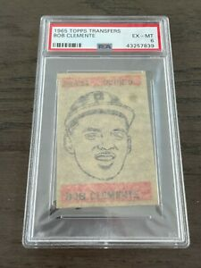 1965 Topps Transfers Roberto Clemente PSA 6 Pittsburgh Pirates