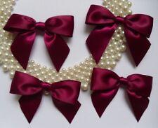 "3"" (W) Burgundy Satin Polyester Ribbon Bows DIY -Lots of 15 pcs (R0046E)"