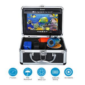 "EYOYO 30m 7"" Colour LCD Underwater Video Camera Fish Finder DVR 12LEDS 1000TVL"