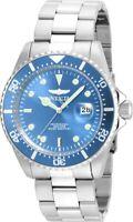 ~SALE~  Invicta Pro Diver 22051 Qtz Silver Band & Light Blue Dial Men's Watch