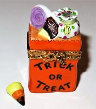 Limoges France Box- Artoria - Halloween -Trick Or Treat Bag & Candy Corn- Le #54