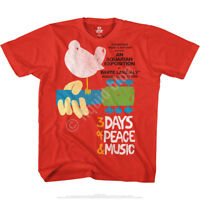 WOODSTOCK-3 DAY-PEACE AND MUSIC-RED TSHIRT S,M,L,XL,XXL-3X,4X,5X,6X Hendrix,Dead