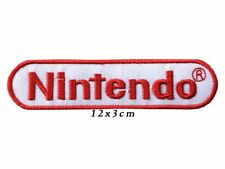 Embroidered GAME Iron On Sew On Patch nintendo white on red A497