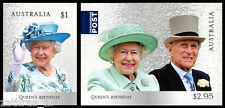 2017 Queen's Birthday - Set of 2 Self Adhesive Booklet Stamps - MUH