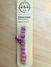 New listing Kitten safety stretch collar adjusts to 8� bell and beaded accent by bond & co.