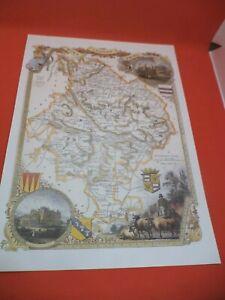 neots kimbolt HUNTINGDONSHIRE new art print repro ANTIQUE COUNTY MAP moule 1800s
