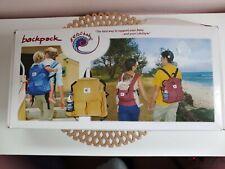 "Ergo Baby Organic Diaper Bag Backpack 12"" x 14"" Red Travel Bag Soft Cotton New"