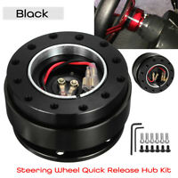 Universal Steering Wheel Quick Release Hub Adapter Snap Off for Boss Kit Black