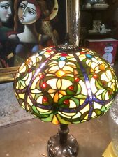 "Tiffany Style Multicolor Lamp Shade 24"" Tall Lamp"