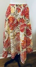 Chico's A-line Skirt Festival Boho Floral Pattern Yellow Red Orange Beige Size 0