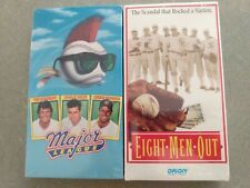 Major League & Eight Men Out VHS Both New Sealed - 2 Classic Baseball Movies Lot