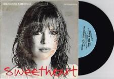"MARIANNE FAITHFULL - SWEETHEART - RARE 7"" 45 RECORD w PICT SLV - 1981"