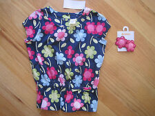 Girl GYMBOREE MULITCOLOR FLOWERS BLOUSE SHIRT & PINK FLOWERS Barrette Set NWT 5