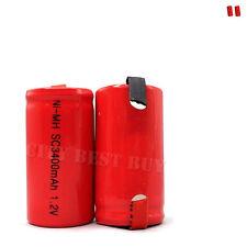 2 X C sub 1.2V 3400mAh NiMH recargable batería Rojo