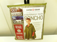 SwissGear Youth Polyester Poncho one size fits all Green Woodbine 844789091534