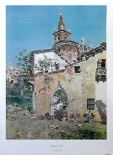 Cortile a Venezia-Martin RICO stampa -72 x53cms, VENEZIA Wall Art, Rico stampa