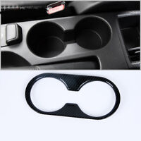 ABS Carbon Fiber Style Drinking Cup Holder Ring for MAZDA CX-3 2017 2018