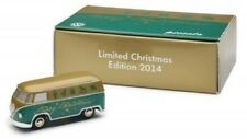 GENUINE VW T1 CAMPER BUS 1:87 SCALE GREEN MODEL 2014 LIMITED CHRISTMAS EDITION