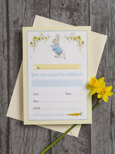 Pack of 10 Peter Rabbit Birthday Christening Baby Shower Invitations & Envelopes