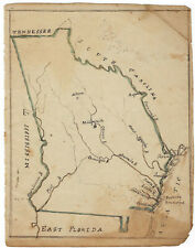 Georgia - Early 19th-Century Hand-Drawn Map