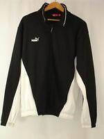 Puma Mens Full Zip Pullover Jacket Track Top Black White XL