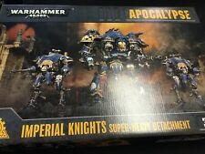Warhammer 40K Apocalypse Imperial Knights Super-Heavy Detachment New