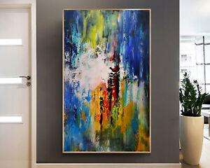 Vnartist / ORIGINAL 100cm x 60cm Abstrakt Gemälde Modern XXL Bilder 153K
