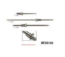 BF20L ball screw cnc conversion kit  , double ballnuts ball screws ends machined