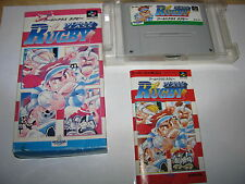 World Class Rugby Super Famicom SFC SNES Japan import complete in box