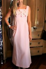 VINTAGE Retro Gina of MELBOURNE Original 1970's Pink Maxi Day Dress #VIN38